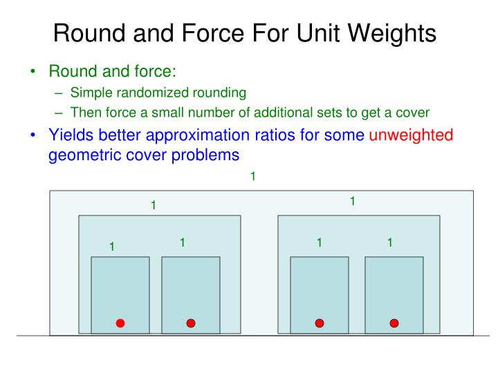 Round and Force For Unit Weights