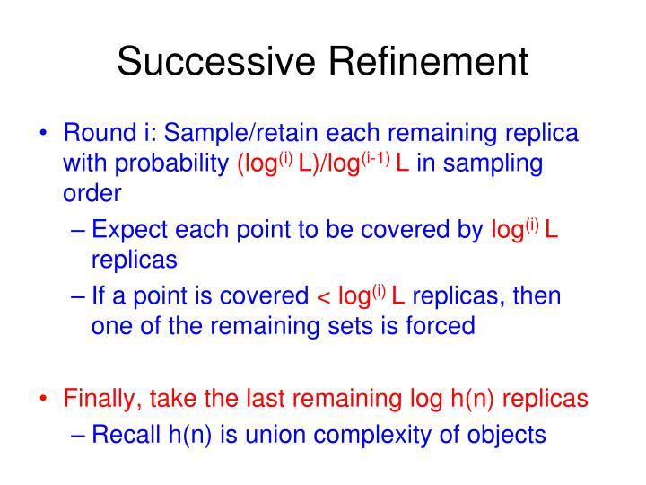 Successive Refinement