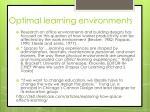 optimal learning environments