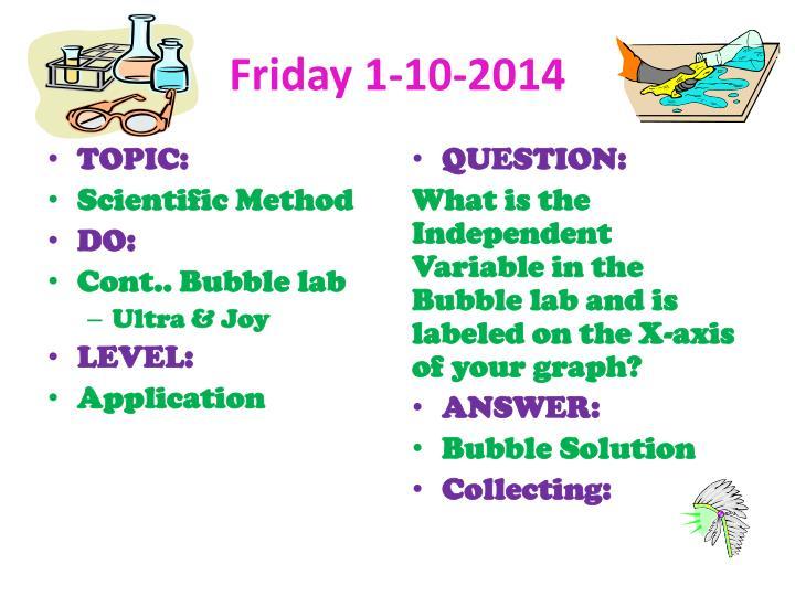 Friday 1-10-2014