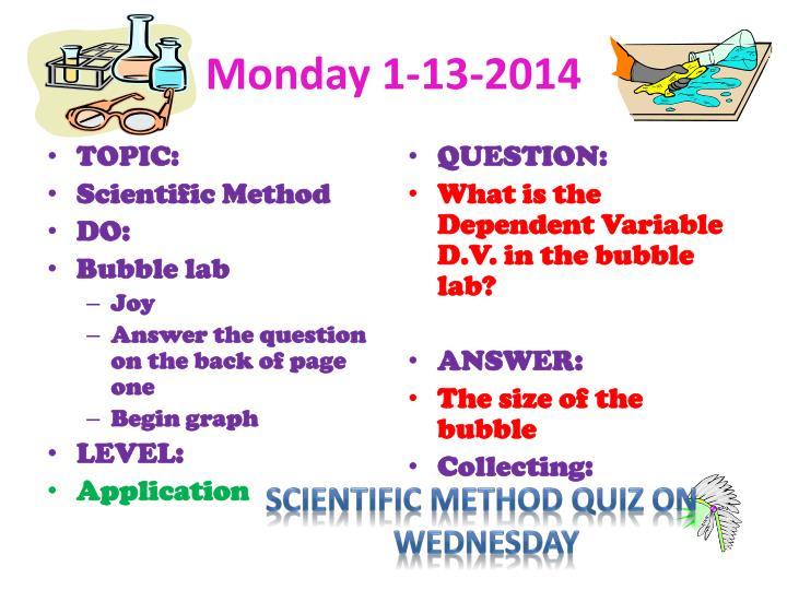 Monday 1-13-2014