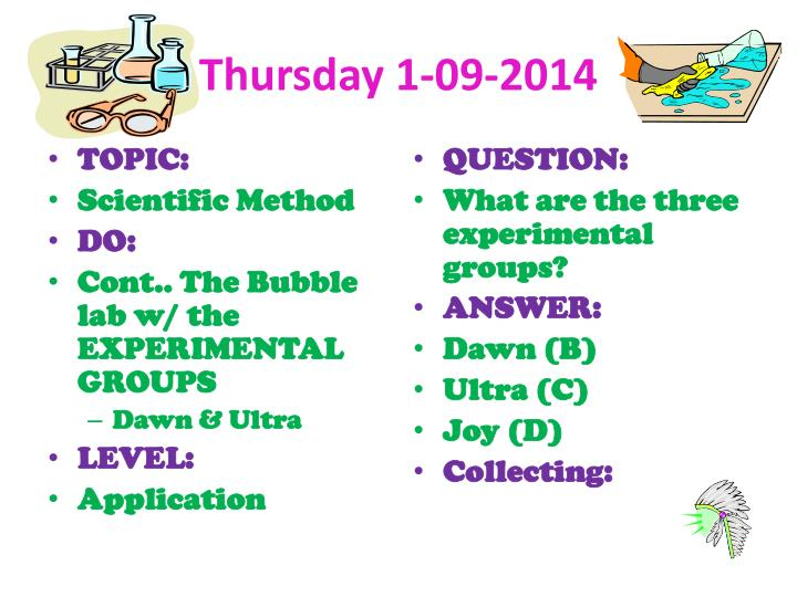 Thursday 1-09-2014