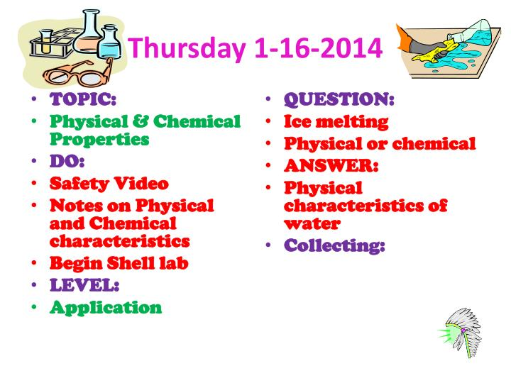 Thursday 1-16-2014
