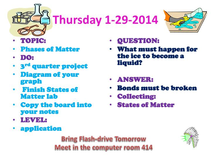 Thursday 1-29-2014