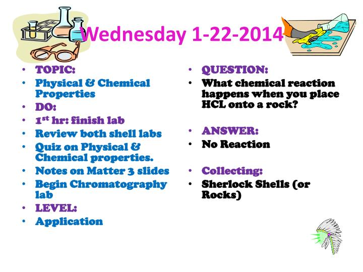 Wednesday 1-22-2014