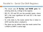 parallel in serial out shift registers