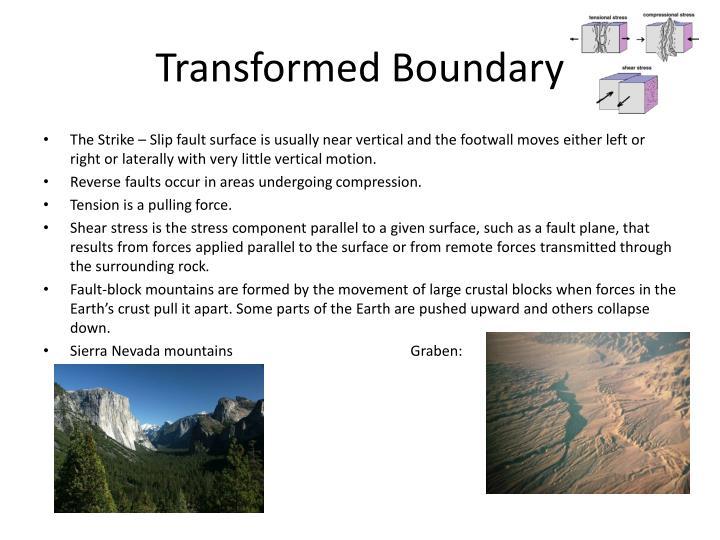 Transformed Boundary