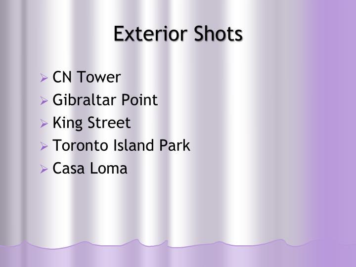 Exterior Shots