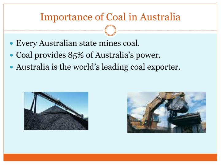 Importance of coal in australia