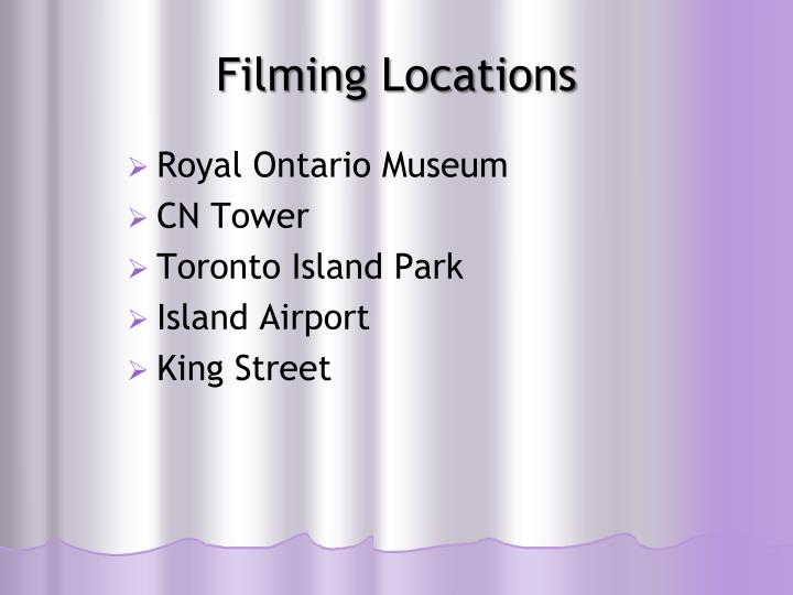 Filming Locations