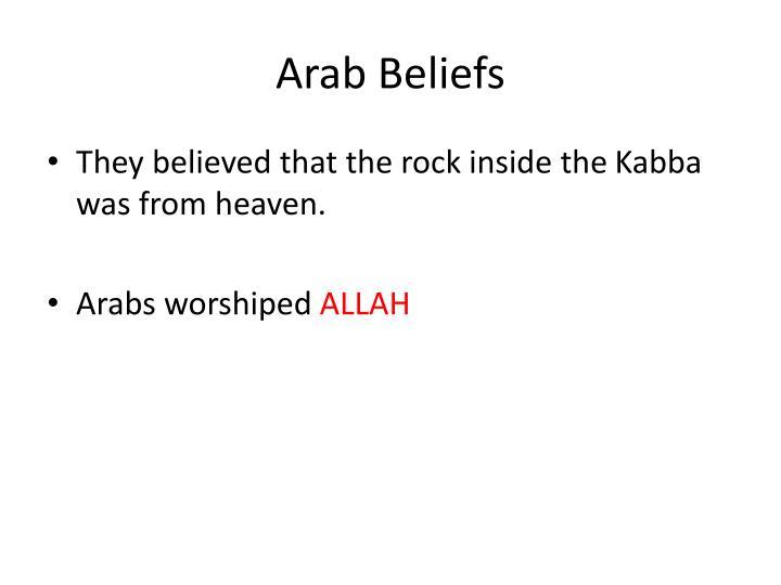 Arab Beliefs
