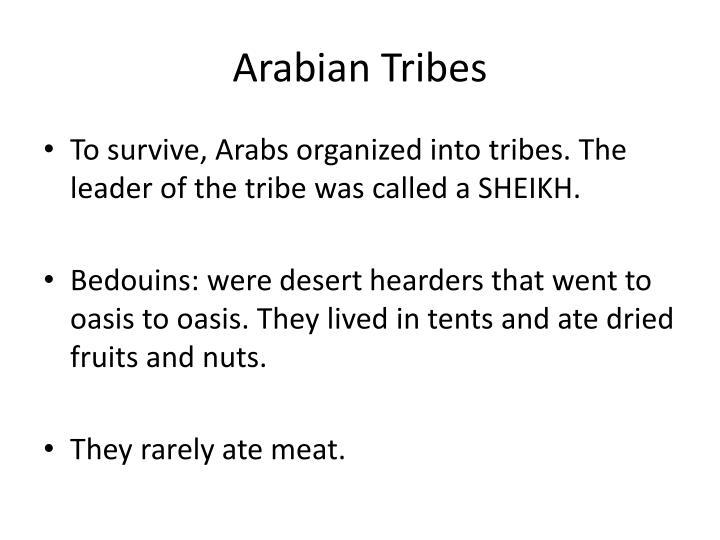 Arabian tribes