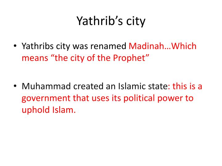 Yathrib's