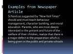 examples from newspaper article1