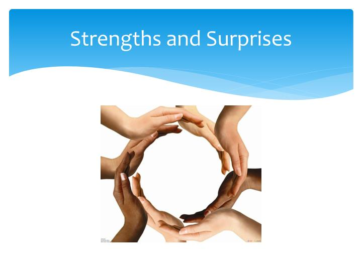 Strengths and Surprises
