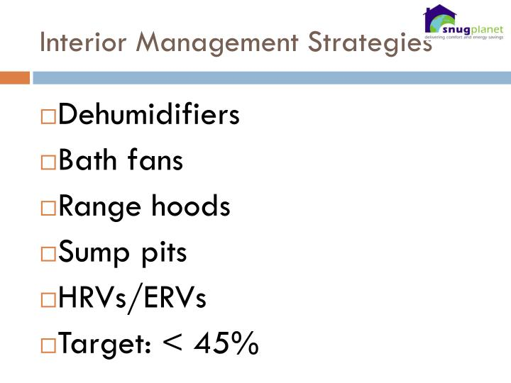 Interior Management Strategies
