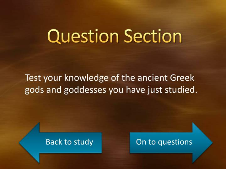 Question Section