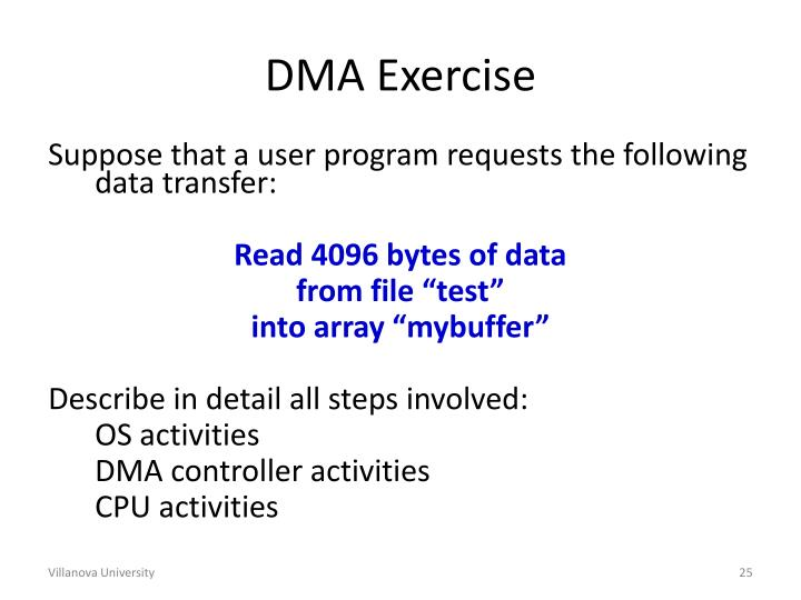 DMA Exercise
