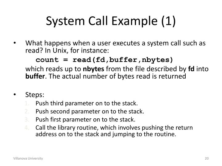 System Call Example (1)
