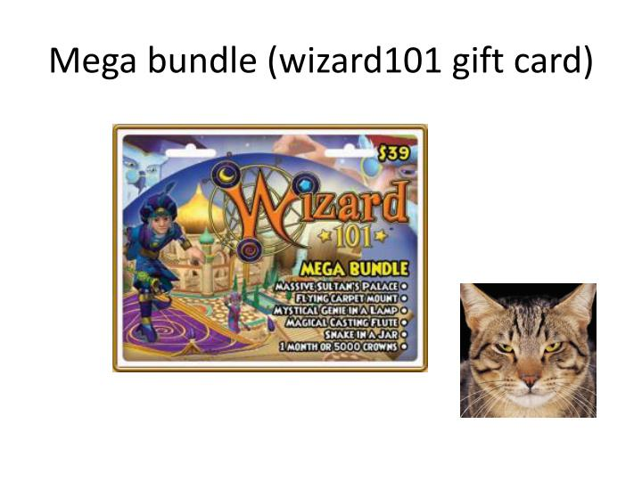 Mega bundle wizard101 gift card