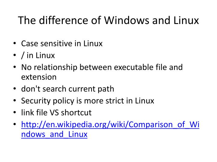 comparison of networking feature of linux and A feature by feature comparison of windows 7 and linux zorin os 5 represents linux in this roundup, and finishes by providing a very competitive choice for the average user's desktop.
