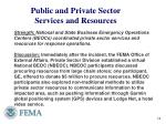 public and private sector services and resources2