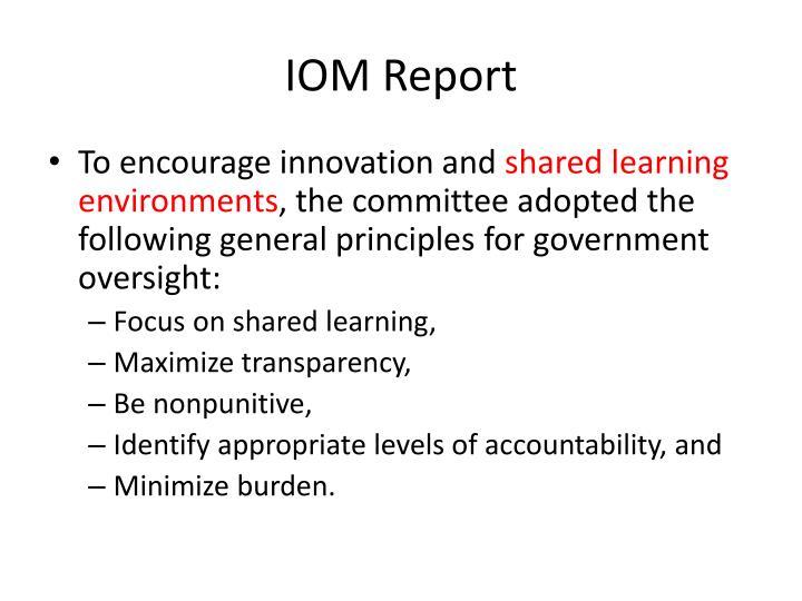 IOM Report