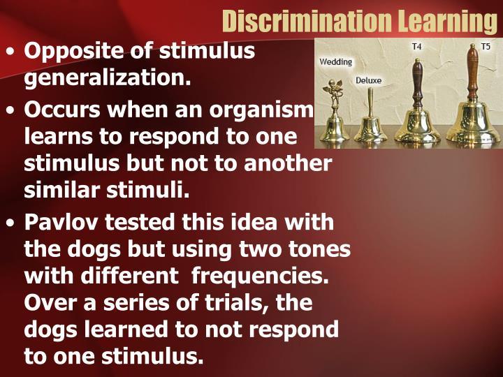 Discrimination Learning