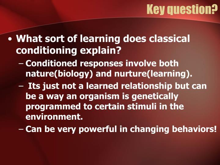 Key question?