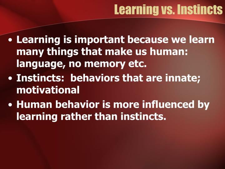 Learning vs instincts