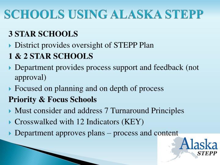 Schools using alaska stepp