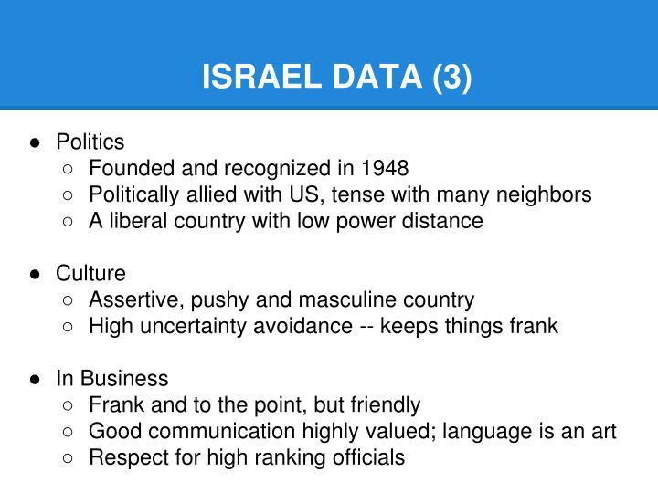 ISRAEL DATA (3)