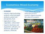economics mixed economy