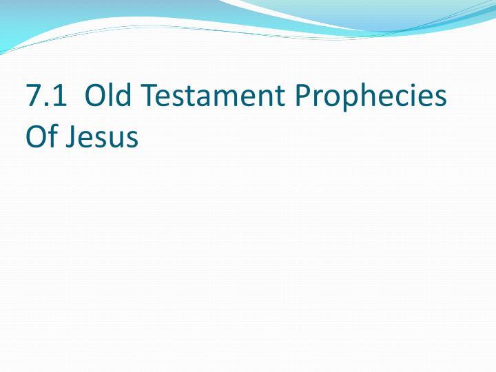 7 1 old testament prophecies of jesus