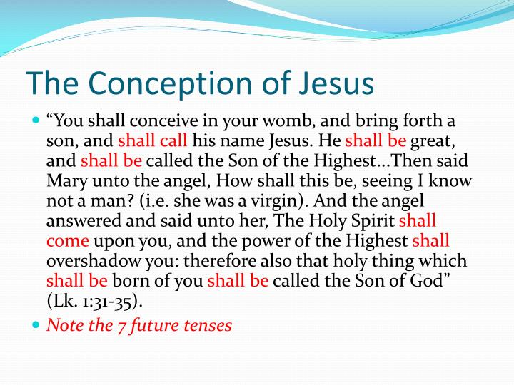 The Conception of Jesus