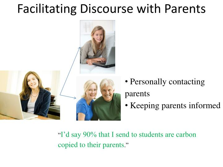 Facilitating Discourse with Parents