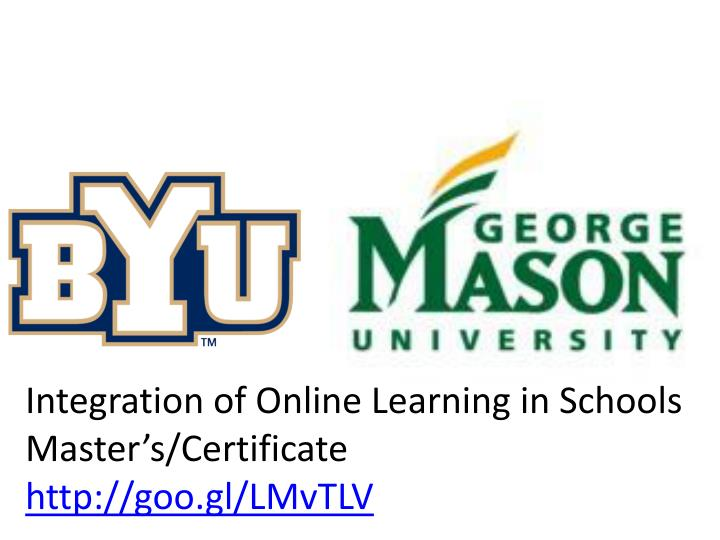 Integration of Online Learning in Schools Master's/Certificate