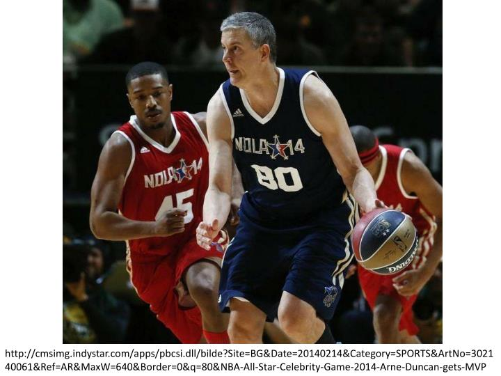 http://cmsimg.indystar.com/apps/pbcsi.dll/bilde?Site=BG&Date=20140214&Category=SPORTS&ArtNo=302140061&Ref=AR&MaxW=640&Border=0&q=80&NBA-All-Star-Celebrity-Game-2014-Arne-Duncan-gets-MVP