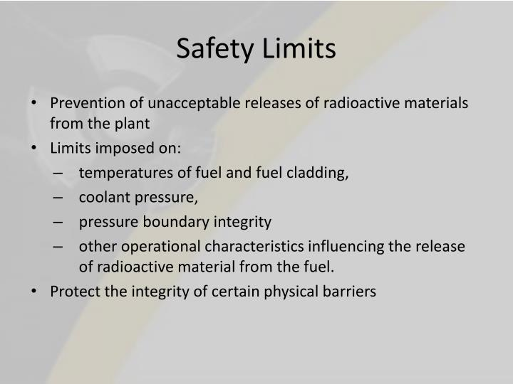 Safety Limits