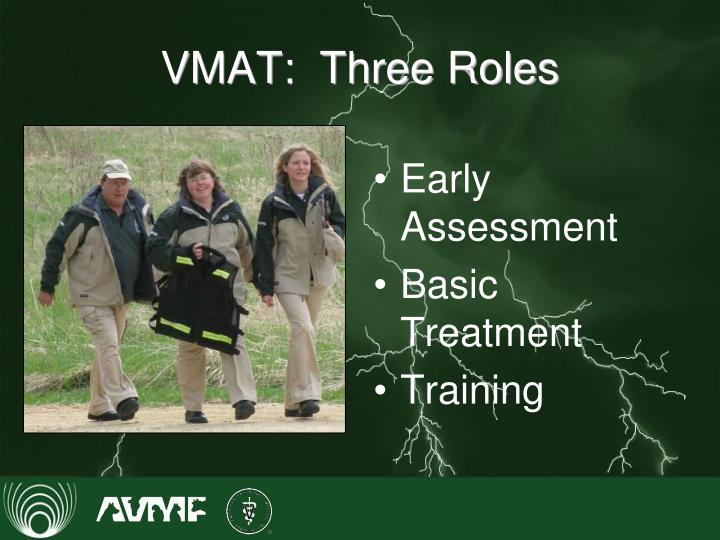 VMAT:  Three Roles