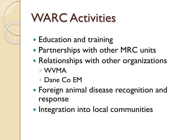 WARC Activities
