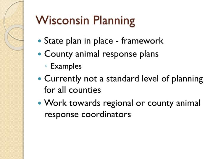 Wisconsin Planning