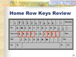home row keys review