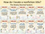 how do i locate a nonfiction title