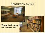 nonfiction section