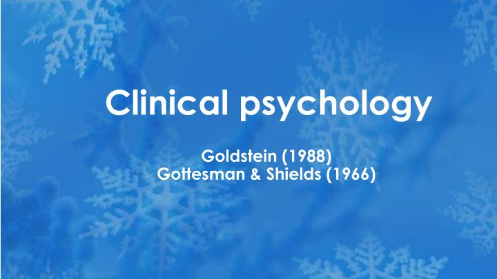 clinical psychology n.