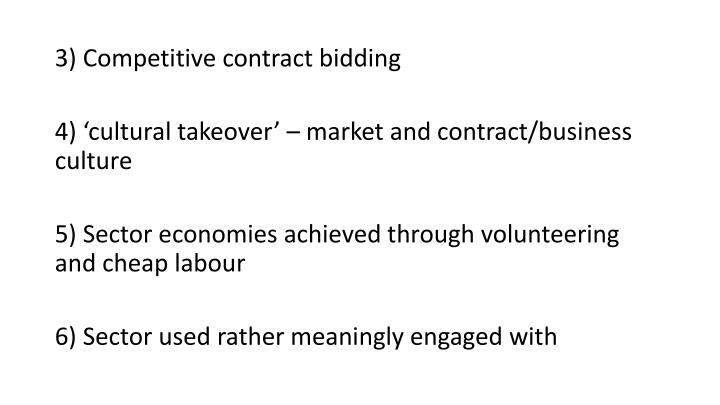 3) Competitive contract bidding