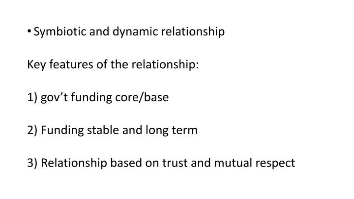 Symbiotic and dynamic relationship