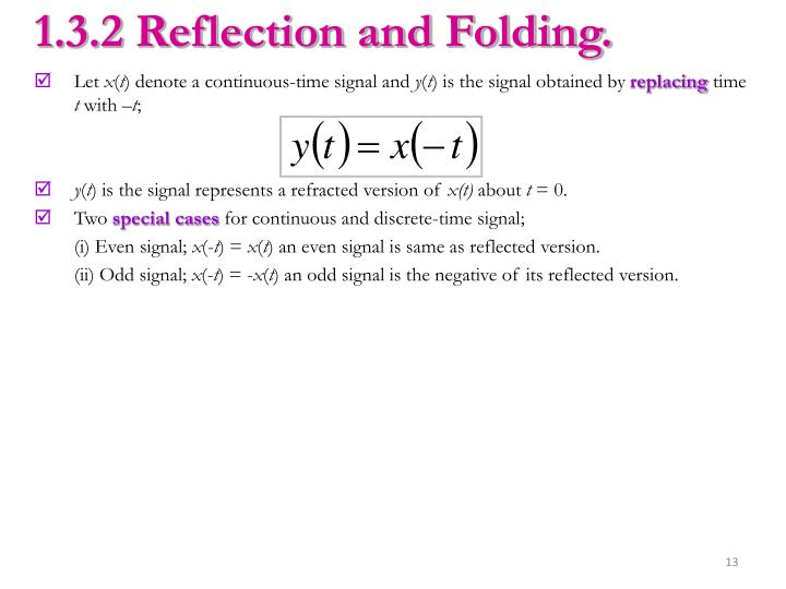 1.3.2 Reflection and Folding.