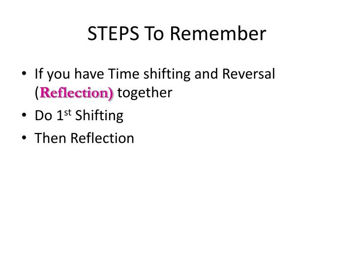 STEPS To Remember